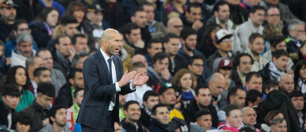 Zidane durante el partido frente al Espanyol.
