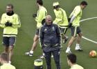 Zidane, en un entrenamiento el pasado 8 de enero.
