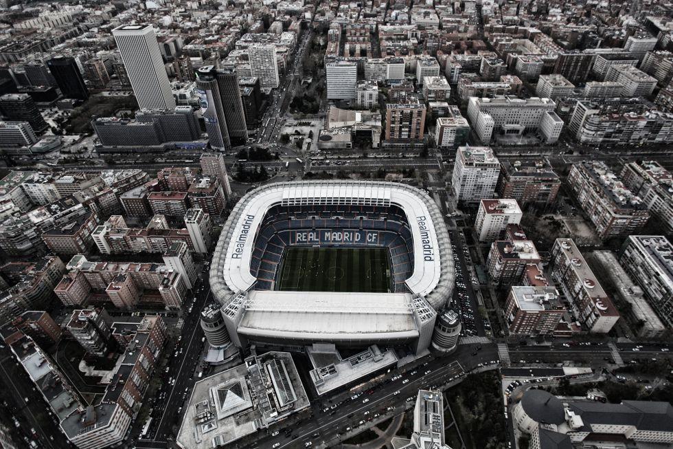 Vista aérea del Santiago Bernabéu