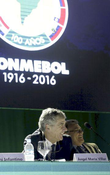Villar, en el último congreso de la Conmebol.