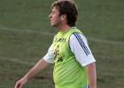 Antonio Cassano, durante el entrenamiento del Real Madrid en 2006.