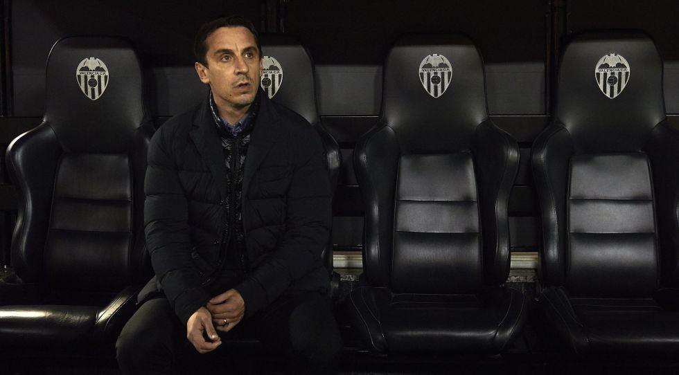 Gary Neville, entrenador del Valencia CF.
