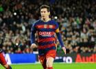 Messi, en el momento del penalti.