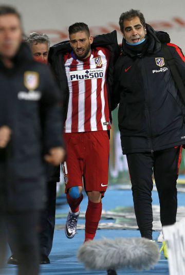 Carrasco abandona el Coliseum Alfonso Pérez lesionado