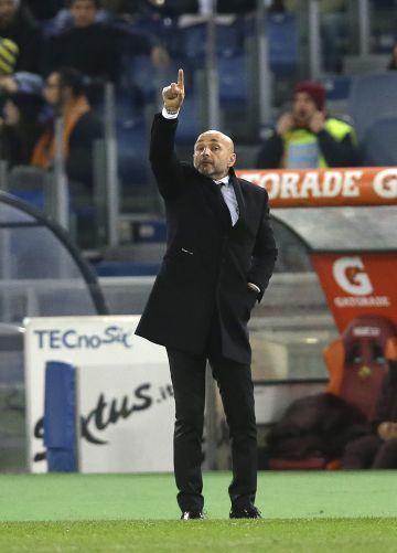 Spalletti, durante un partido de la Roma.