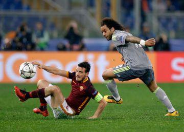 Cristiano espabila al Real Madrid en Roma