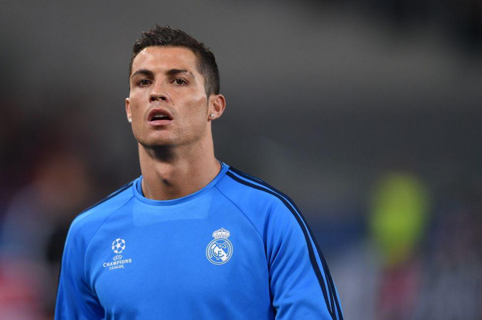Cristiano Ronaldo en el Olímpico de Roma.