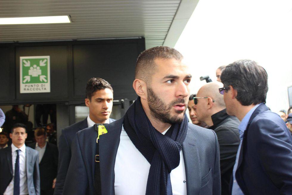 El delantero francés Karim Benzema este martes en Roma.