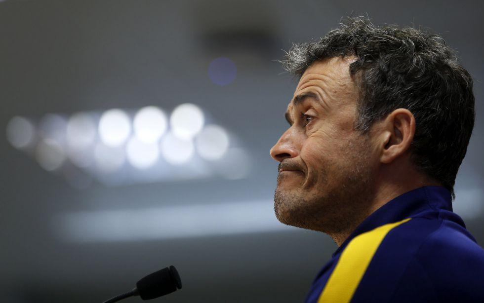 Luis Enrique, en la conferencia de prensa ofrecida en Sant Joan Despí.