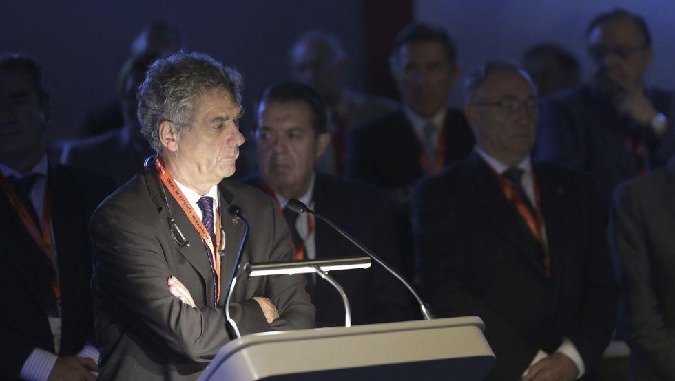 Ángel María Villar, en la Asamblea de la RFEF en 2015.