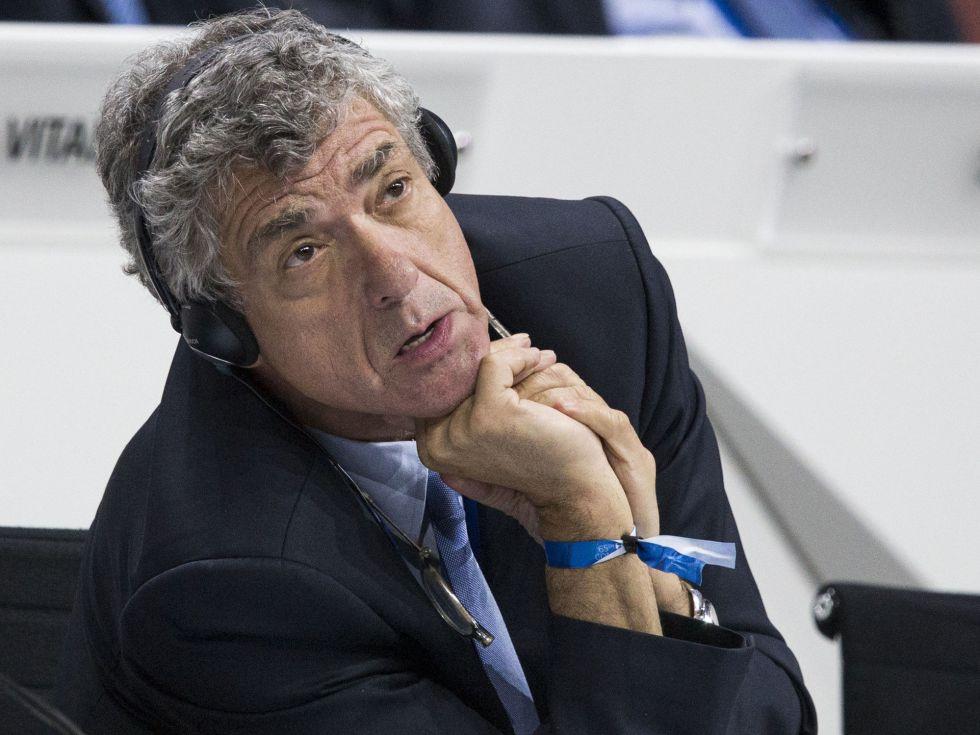 Villar, en el congreso de la FIFA de mayo de 2015.