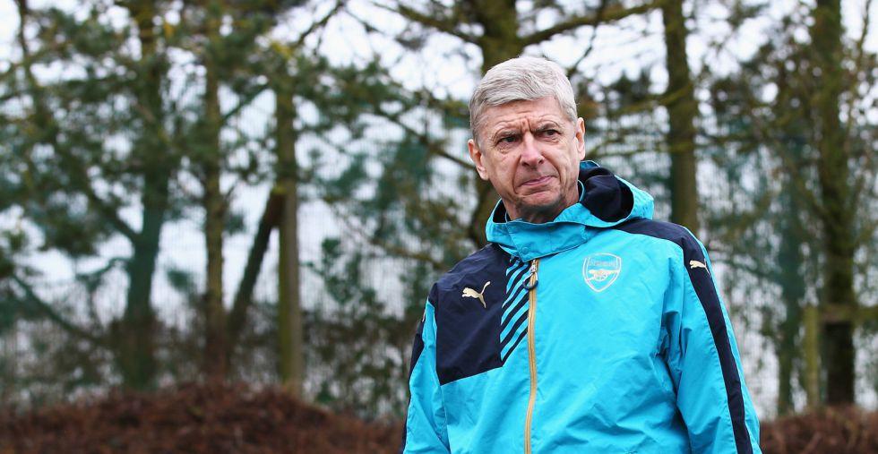 Wenger, durante la sesión de este lunes.