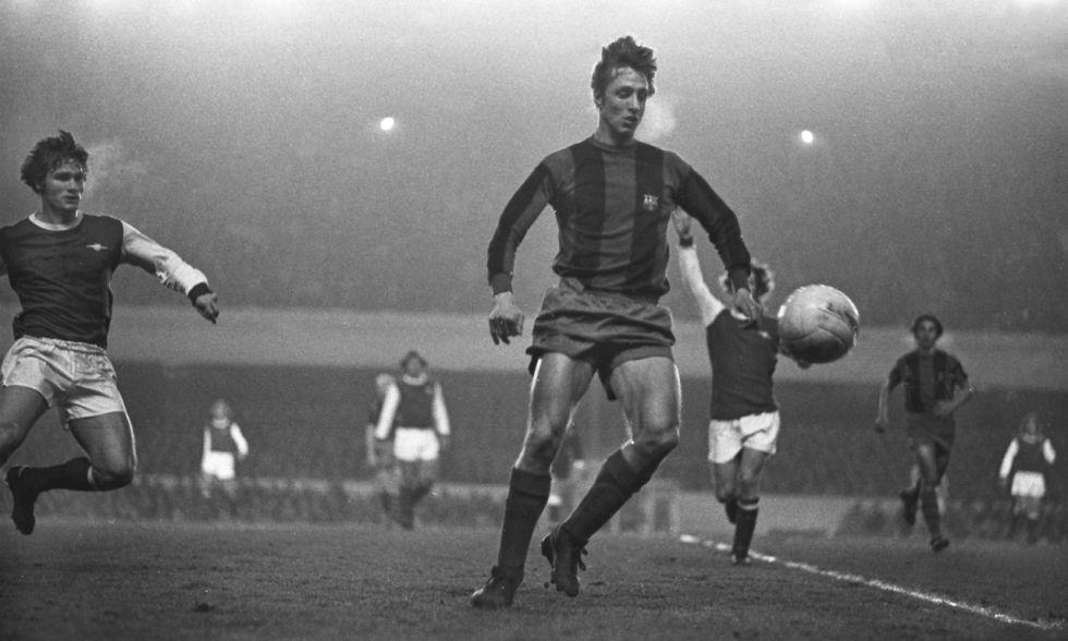 Champions League: Cruyff en el partido contra el Arsenal