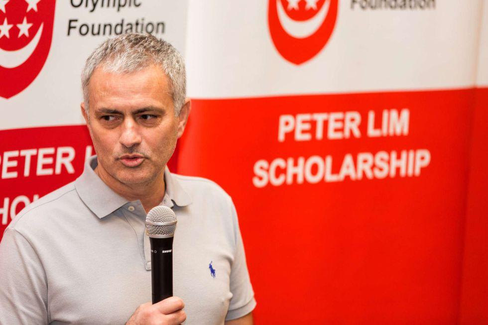 Mourinho, durante un acto en Singapur.