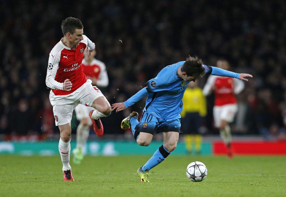 Lionel Messi, en su última presentación ante el Arsenal el pasado martes en Londres.