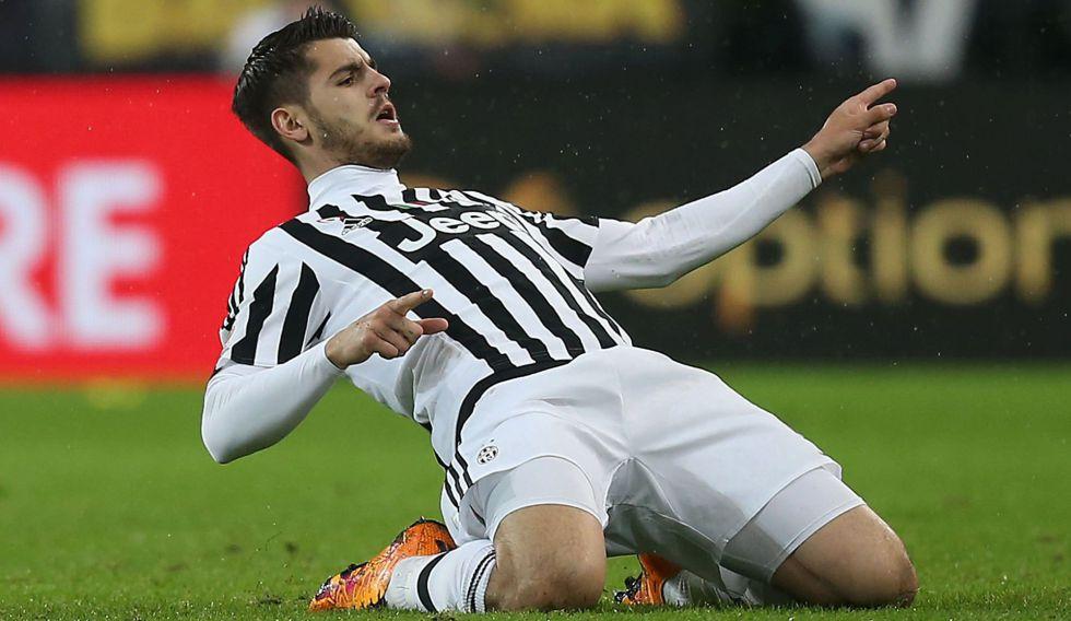 Morata celebra un gol contra la Juventus.