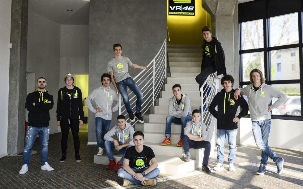 Los once pilotos de la VR46 Riders Academy.