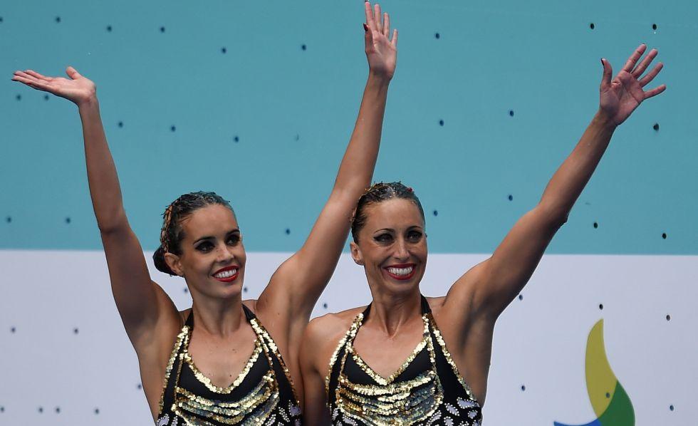 Ona Carbonell (i) y Gemma Mengual durante el preolímpico en Río.
