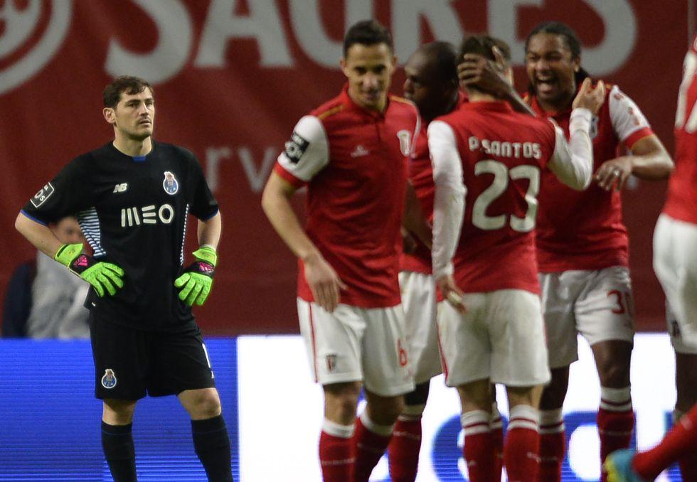 Casillas, tras encajar el tercer gol del Braga.