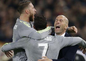 El Madrid bate a la Roma (2-0) y está en cuartos