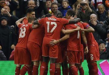 El Liverpool celebra el gol de Sturridge.