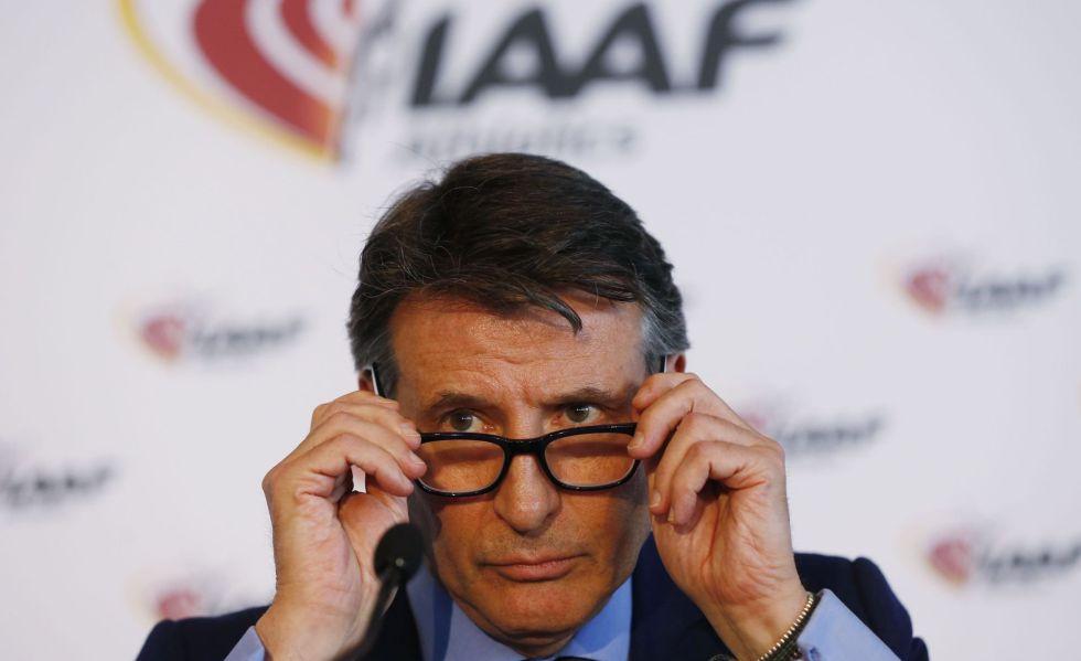 Sebastian Coe, presidente de la IAAF tras la reunión de este viernes.
