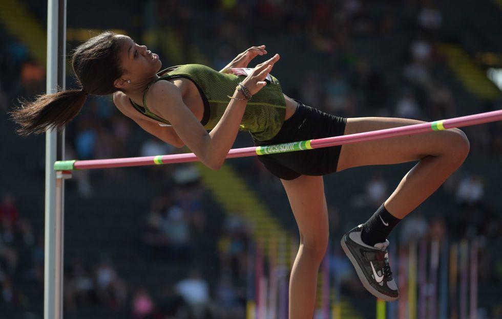 Vashti Cunningham, en una competición el verano pasado.