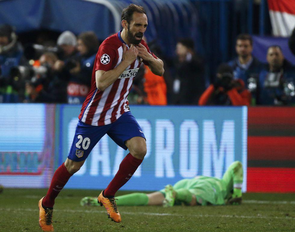 Juanfran mete al Atlético en cuartos en el penalti dieciséis
