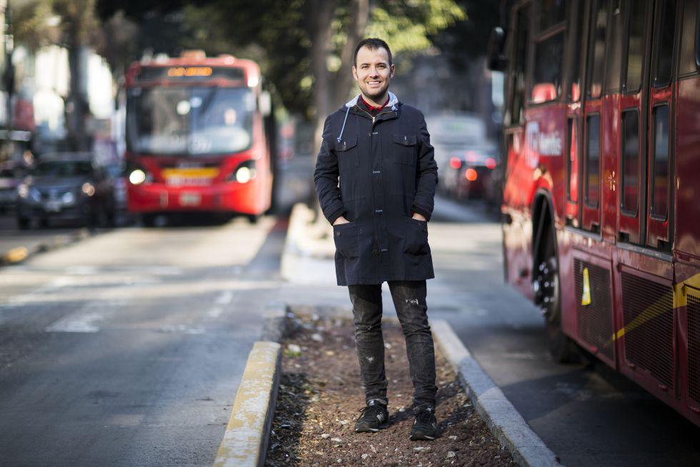 Borja Camacho, en la calle Insurgentes de la Ciudad de México