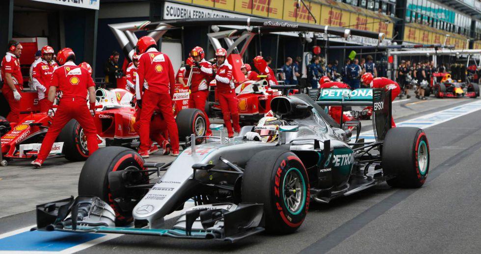 Lewis Hamilton, este sábado en el circuito de Melbourne.
