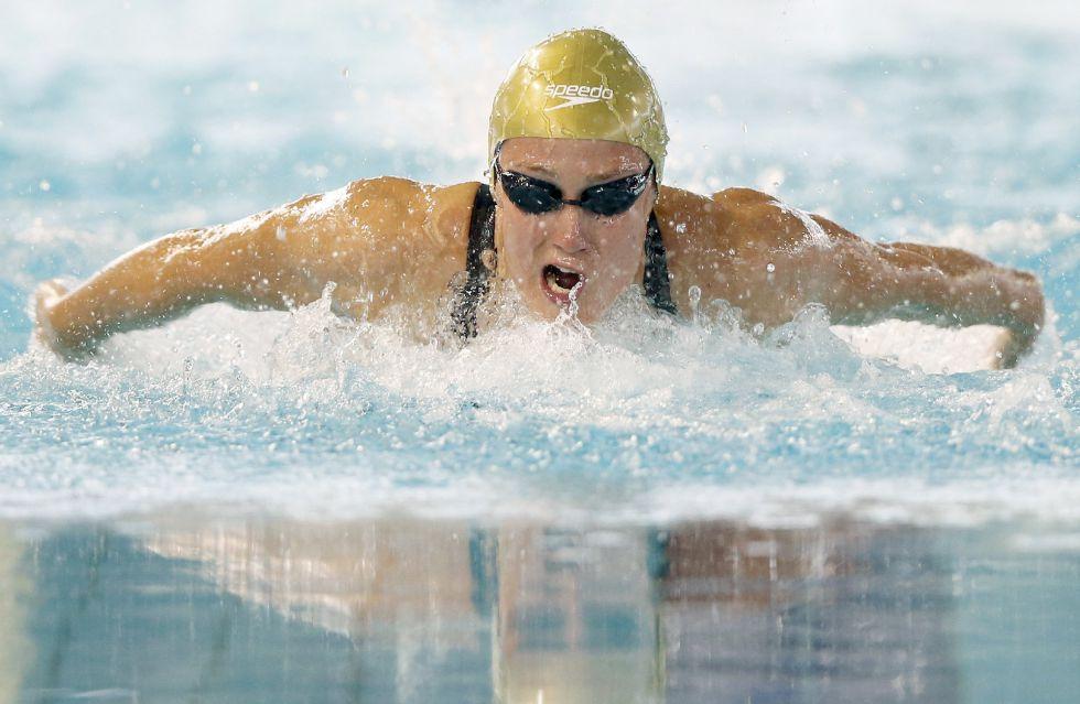 Mireia Belmonte, durante la final de la prueba de 200 metros estilos en Sabadell.