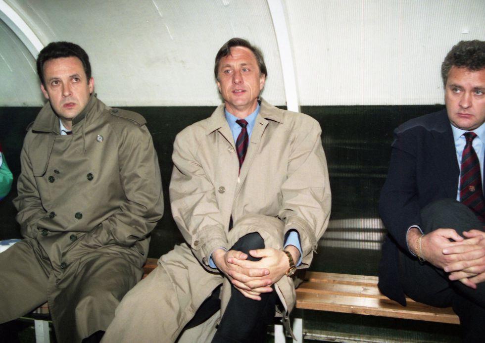 Cruyff, durante su etapa de entrenador del Barça en 1995.