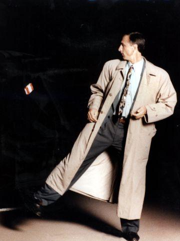 Cruyff, en la campaña antitabaco en 1991.