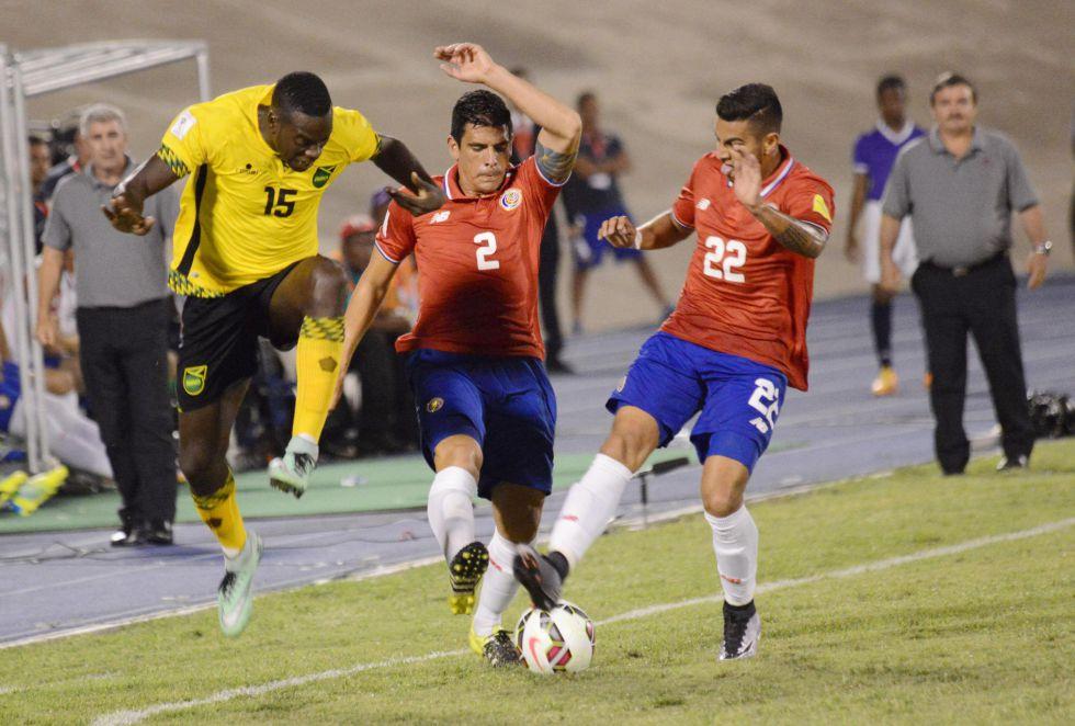 Jamaica se enfrentó a Costa Rica en una eliminatoria para Rusia 2018.