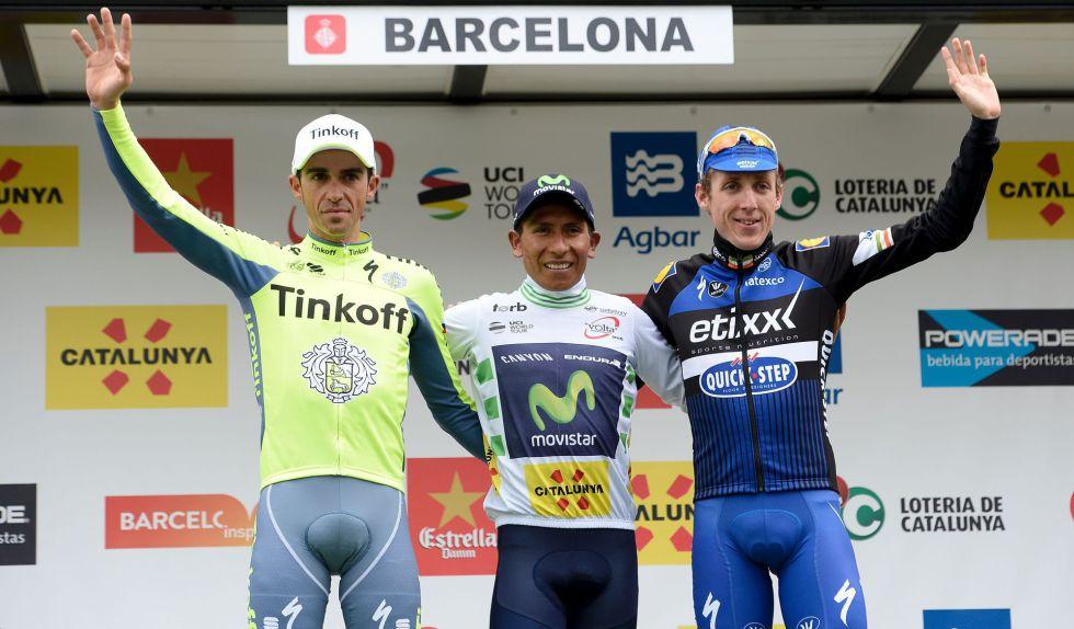 Contador, Nairo y Martin, el podio de la Volta.