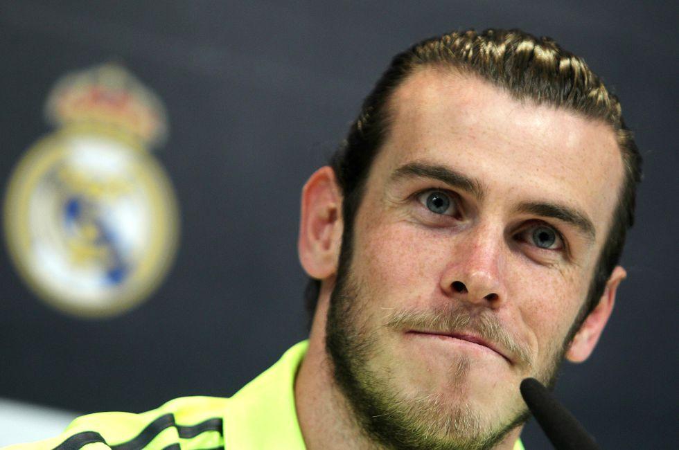 Gareth Bale en rueda de prensa.