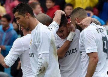 El Madrid golea al Getafe y se coloca a un punto del Barcelona