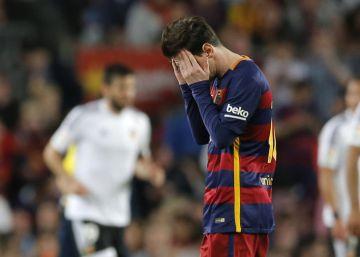 El Barcelona cae ante el Valencia y pierde la ventaja en la Liga