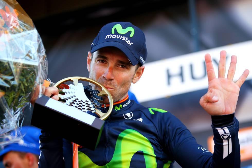 Valverde hace historia al vencer por cuarta vez en el muro de Huy