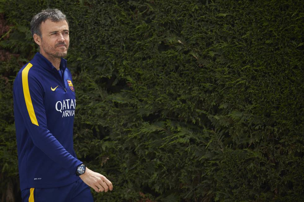 Luis Enrique, en la ciudad deportiva del FC Barcelona.