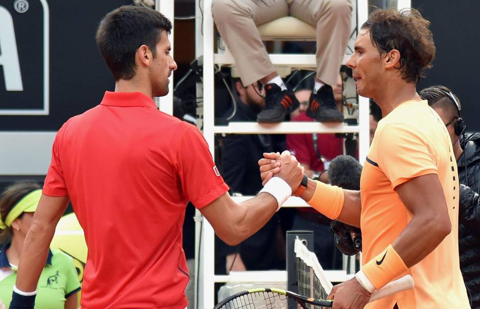 Nadal y Djokovic en el Masters de Roma este mes de mayo.