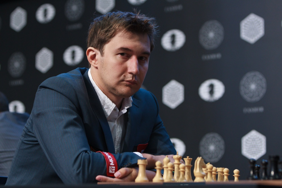 Serguéi Kariakin, durante el Torneo de Candidatos que ganó en marzo, en Moscú