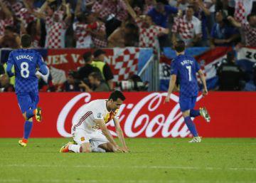 España pierde ante Croacia y jugará contra Italia en octavos