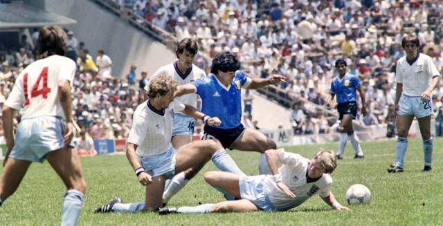 Maradona en las semifinales de México 86.