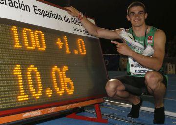 Bruno Hortelano deja el récord de España de 100m en 10,06s