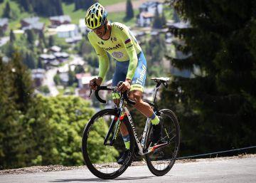 Contador se resfría a una semana del Tour
