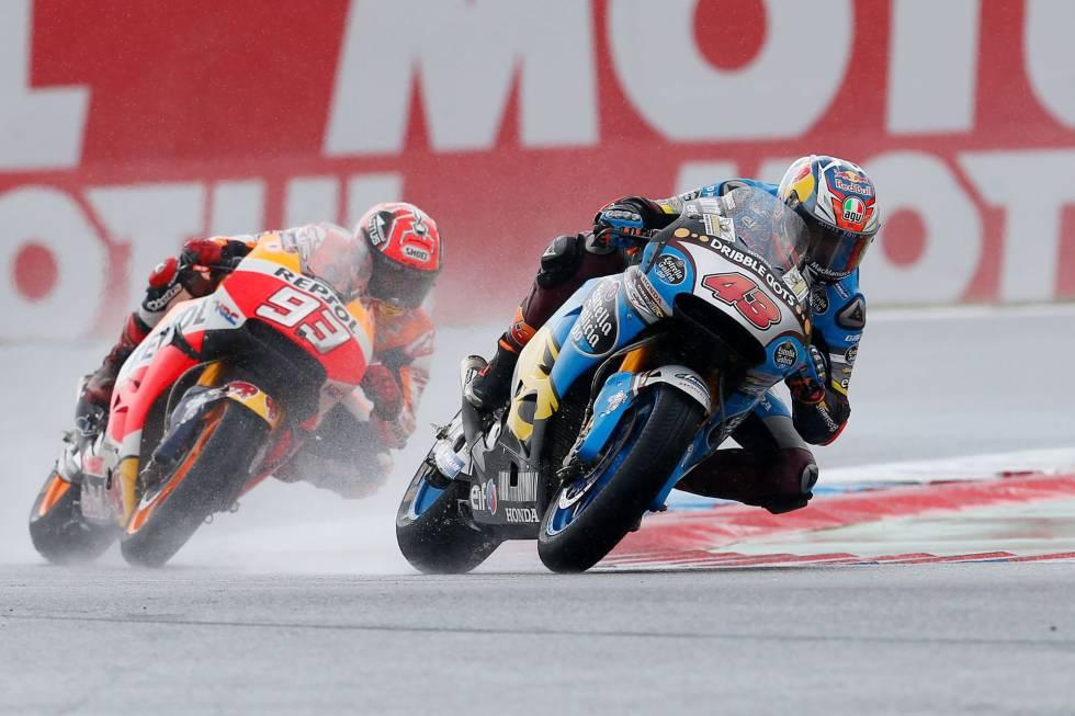 Miller se lleva la victoria y Márquez saca tajada en una carrera en mojado