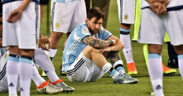 Messi, tras perder la final.