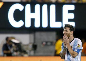 Messi, durante la final contra Chile, en Nueva Jersey.