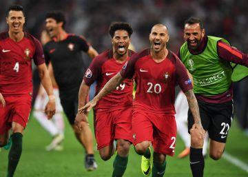 Portugal avanza por el alambre